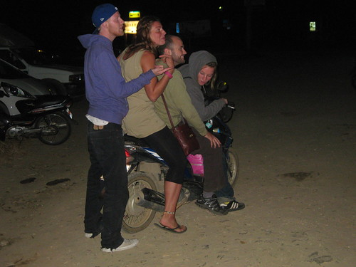 Trying to fit 4 westerners on a scooter...it didn't actually happen