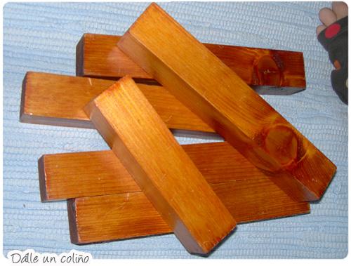 Handmade wood blocks