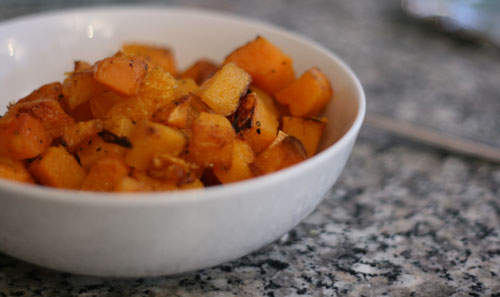 Easy Double-Duty Side Dish: Simple Roasted Butternut Squash