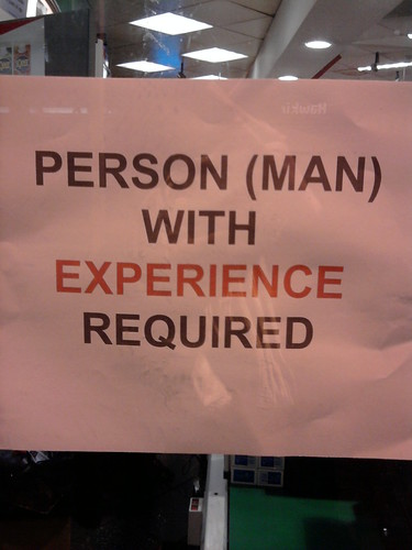 PERSON (MAN) WITH EXPERIENCE REQUIRED