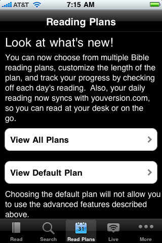 New Bible Reading Plans available