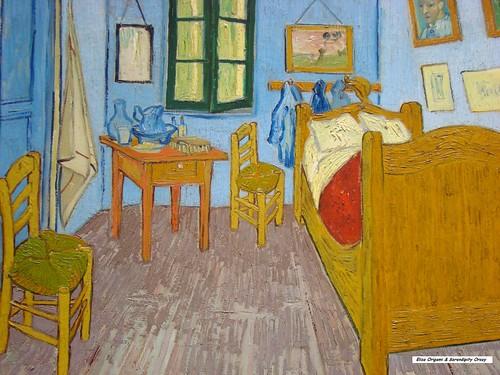 El dormitorio en Arlés de Van Gogh en Orsay, Elisa N Diseño de Viajes