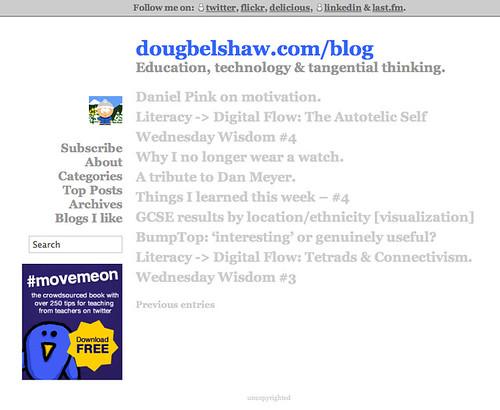 dougbelshaw.com/blog minimalist v1