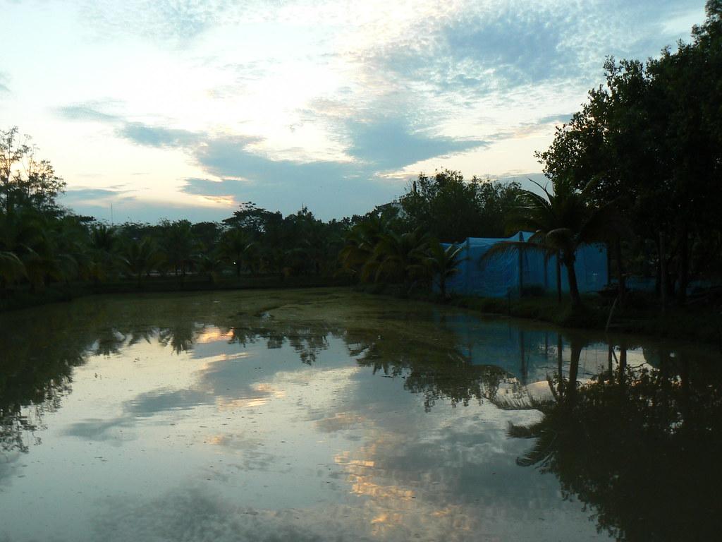 beautiful sunset over Esan