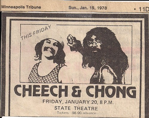 01/20/78 Cheech & Chong @ Minneapolis, MN (Ad)