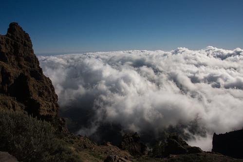 Mar de nubes. Mirador de Las Nieves.Tejeda.Gran Canaria.