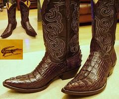 New Sendra Caiman Tail boots (MarkXYVL) Tags: leather mexico cowboy hand boots tail alligator made western limited edition caiman botas genuine edicion limitada croco stiefel laarzen sendra