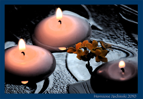 floating candles artistic edit