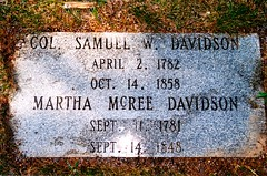 Samuel and Martha McRee Davidson Gravestone