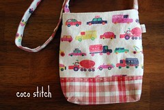 shoulder bag for boy- car (coco stitch) Tags: boy red car toddler small etsy pochette zakka shoulderbag japanesefabric cocostitch