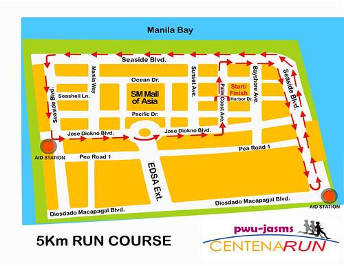 PWU Marathon 5k Route Map