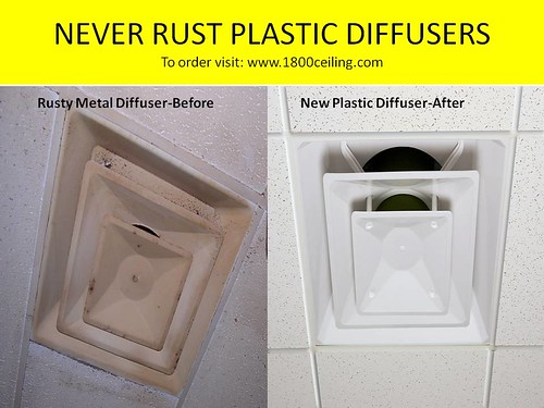 Plastic air diffuser and plastic vents
