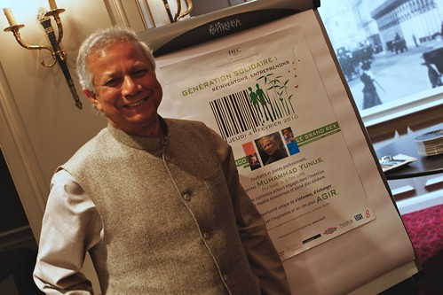 Private dinner with Prof. Muhammad Yunus, Nobel Peace Prize Laureate (2006)