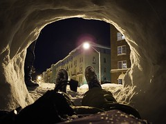 2010 Baltimore Blizzard(s) (Craftwork*) Tags: winter snow feet night hole fort maryland tunnel baltimore blizzard igloo g11 charlesvillage martucci charlesmartucci canong11 midatlanticblizzard