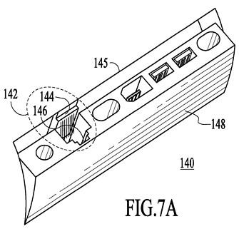 Macbook Netbook Apple patent usb lan rj-45 ports at the back