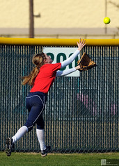 Tracking down a long fly ball... (chemisti) Tags: sports nikon texas competition slide catch slap softball athlete collin score fastpitch throw bunt d300 mbhs paintshopprox2 mckinneyboyd capturenx2 tamron70200mmf28dildifmacroaf mckinneyboydsoftball