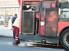 Broken down bus (sixthland) Tags: bus london dailycommute sikh radiator coolant g11 blipfoto