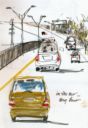 In the car sketching, day 4
