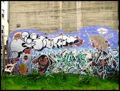 Giant & Dzyer (the graveyard shift) Tags: 2002 art wall giant graffiti san francisco paint rip dream spray dzyer tdk