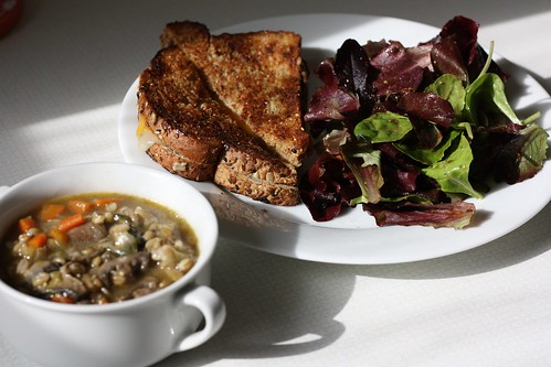 Soup, Grilled Cheese, and Salad