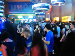Crowd (JesseWarren) Tags: blue party music point shoot dj drum bass frog mc jungle nightlife macau conrad lt dnb compact s90 macao bukem ltj