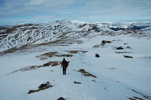 Striding out to Ben Vane