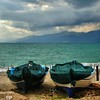 Winter Beach - Sheltered (Osvaldo_Zoom) Tags: winter sea 2 beach boats seaside nikon waiting covered sicily calabria sheltered messinastrait d80