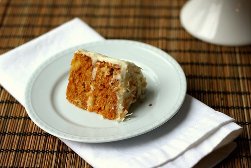 SMS Carrot Cake with Orange Cream Cheese Frosting