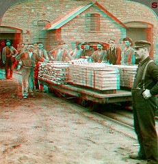 Copper Bars and Plates Leaving the Smelters of the Calumet and Hecla Mines, Michigan anaglyph3D (depthandtime) Tags: old up vintage found stereoscopic stereophotography 3d workers mine view antique michigan anaglyph mining stereo card views copper stereoview occupational worker stereograph foundphoto stereoscope smelter anaglyphic stereographic uppermichigan hecla redcyan daup stereocard calumetandhecla underwoodunderwood stereoscopeview culumet