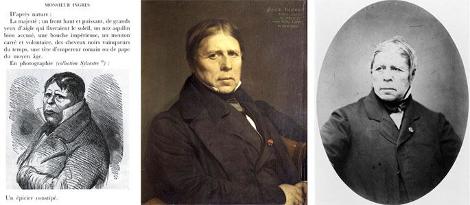 Marcelin. Ingres, autoportrait, 1858. Portrait par Carjat, 1861.