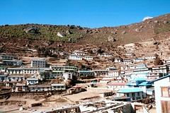 Namche Bazar, famous as the base to Mt. Everest.