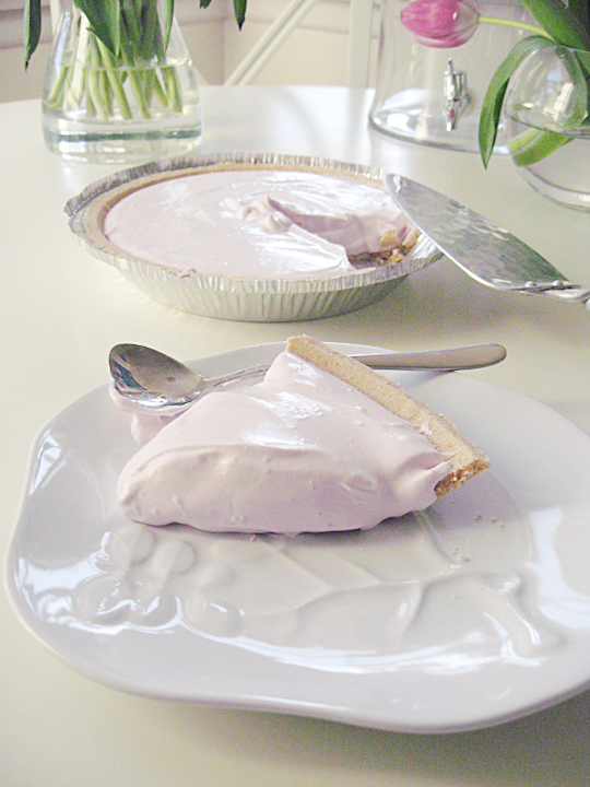 yogurt pie dessert slice light