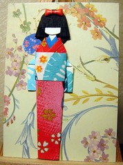 ATC209 - Asami (tengds) Tags: flowers blue red atc fan sticker kimono ribbon papercraft japanesepaper washi ningyo handmadedoll handmadecard chiyogami scrapbookpaper yuzenwashi japanesepaperdoll washidoll origamidoll tengds