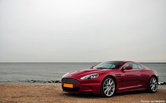 Aston Martin DBS Infra Red (Thomas van Meijeren) Tags: blue red sea white black beach beauty dutch nikon power photoshoot martin interior nederland s ferrari porsche soul enzo british bugatti infra 60 aston maasvlakte liter vantage litre dbs veyron mako v12 vanquish alcantara d90 nikond90