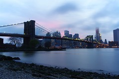 Brooklyn Bridge (cvrestan) Tags: brooklynbridge newyorkskyline bluehour suspensionbridge financialcenter lowermanhattan cityofnewyork pentaxda21mm overcastweather pentaxk20d yaayatimonaninay