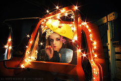 O Destino Desfolhou. (lvia.) Tags: light selfportrait night truck myself calendarioatellie gettyfeb liv01