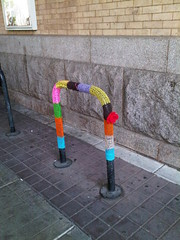 Yarn bombing outside Reading Terminal Market