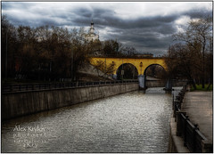 Silent Bridge (a.Kry) Tags: city bridge urban building nature water river spring day russia moscow countries canondslr canoneos        photomatix   50d    canoneos50d    yauzariver akryphotoart