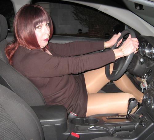 Crossdresser in car