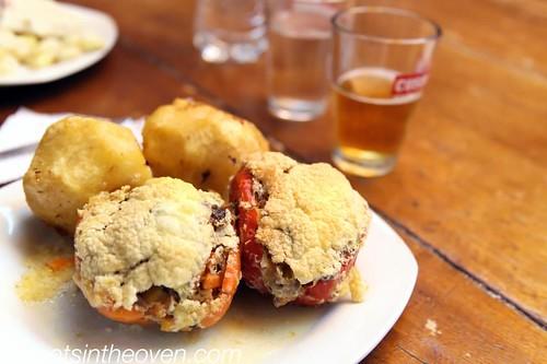 Sufle de Rocoto (rocoto relleno, stuffed peppers)