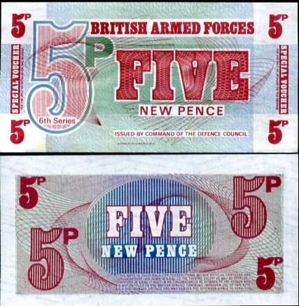 5 nových Pencí Veľká Británia 1972, Pick m44
