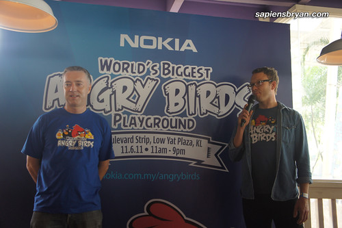 Anthony Wilson, Nokia Head of Marketing Singapore, Malaysia & Brunei, and Ville Heijari, VP Franchise Development of Rovio Mobile, were taking turns to answer questions from the medias.