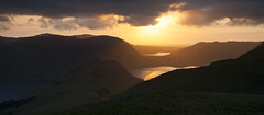 Sunset over Crummock Water and Loweswater (Nick Landells) Tags: sunset sun evening lakedistrict cumbria loweswater cumbrian lowfell westcumbria melbreak mellbreak rannerdaleknotts visipix
