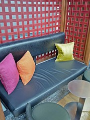 Hotel W (WhiPix) Tags: 1305 hotelw hoboken pillows colors yellow orange magenta table