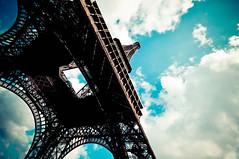 Just looking up (beketchai) Tags: france architecture towers eiffeltower eiffel latoureiffel parisfrance observationtower gustaveeiffel parislandmarks frenchlandmarks latticetowers worldsfairlandmark