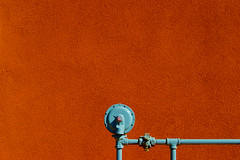 it's a gas, gas, gas. (booksin) Tags: color building metal architecture construction plumbing minimal gas infrastructure minimalism shape minimalistic facilities booksin copyrightbybooksinallrightsreserved