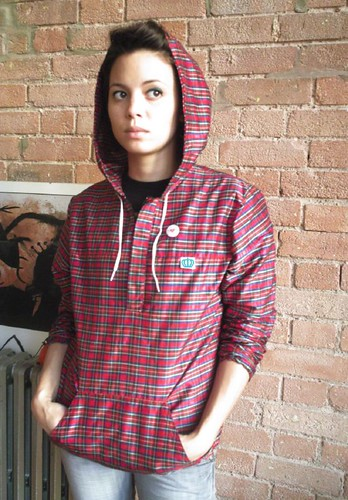 Alba - Red Check hoody