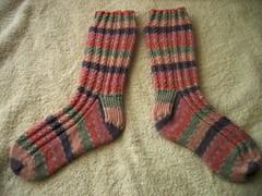 Mock Cable Socks