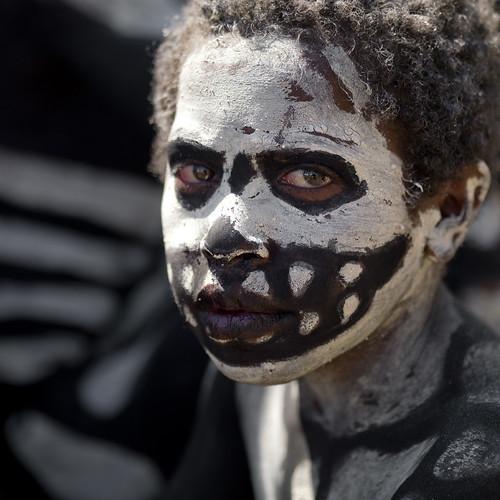 Mount Hagen skeleton tribe - Papua New guinea