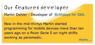 Symbian Horizon Featured Developer